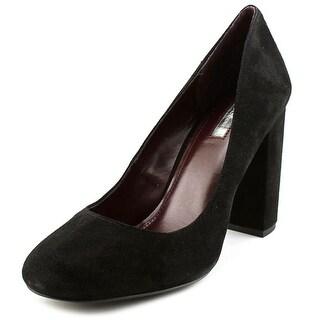 BCBGeneration Franka Women  Round Toe Suede Black Heels