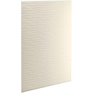 "Kohler K-97604-T01 Choreograph 60"" x 96"" Shower Wall Panel with Brick Texture - White"