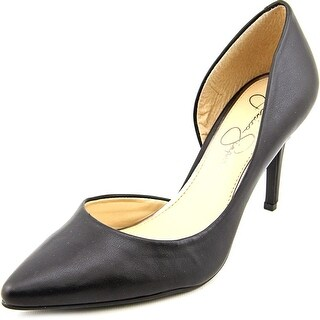 Jessica Simpson Livvy Women Pointed Toe Canvas Black Heels