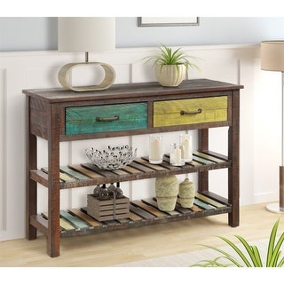 Sofa Table Console Tables for Entryway Hallway with Drawers