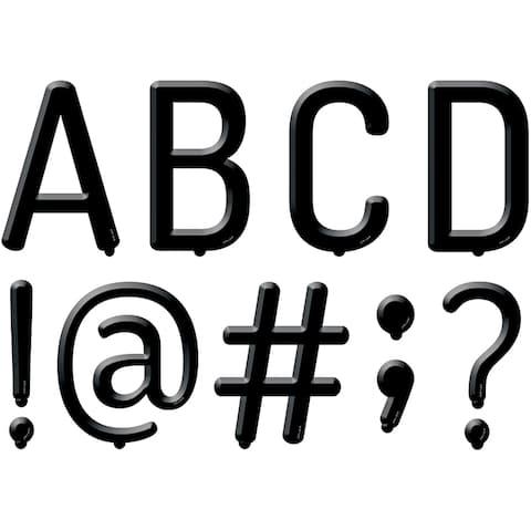 Blk Letter Board 5In Designer Letters - Black