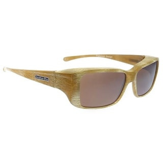 Jonathan Paul Fitovers Medium Ikara Tiger Eye Polarized Amber Sunglasses