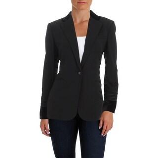 Lauren Ralph Lauren Womens Dibadlo Jacket Cording Decoration Velvet Trim