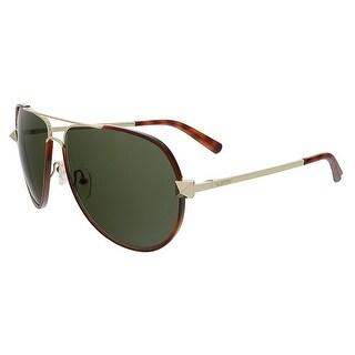 Valentino V116S 725 Blond Havana Aviator Valentino Sunglasses