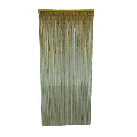 Natural Finish Bamboo String Curtain 36 inch Wide - 72 X 36 X 1.5 inches
