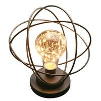 Table Desk Lamp - Atomic Age LED Metal Accent Light - 8 in. x 11 in. x 8 in.