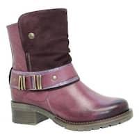 Dromedaris Women's Kikka Biker Boot Violet Leather