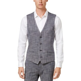 Vince Camuto Mens Suit Vest Textured Weave - XL