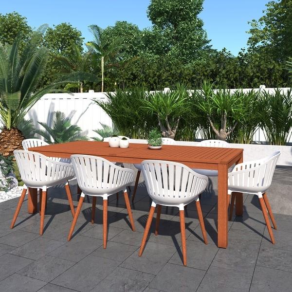 Shop Amazonia Clifton 9-Piece Eucalyptus Wood Outdoor ... on Safavieh Ransin id=32685