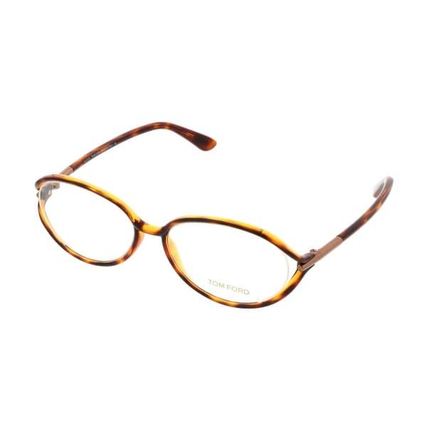 Tom Ford FT5212/V 052 Clear Havana Oval Opticals - 55-16-130