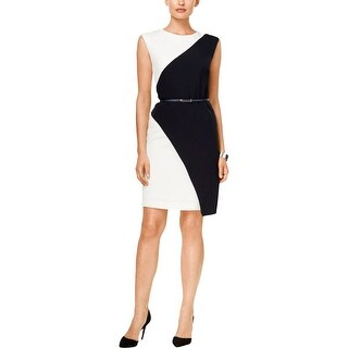 Sandra Darren Womens Wear to Work Dress Colorblock Sleeveless - 16