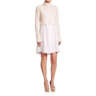 Elie Tahari Raleigh White Sweater Dress