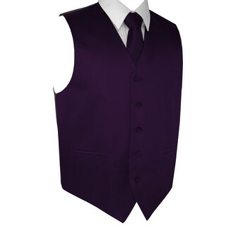 Men's Formal Tuxedo Vest, Tie & Pocket Square Set-Lapis-XL