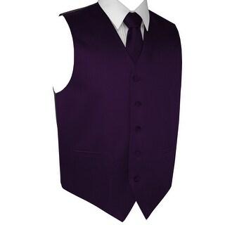 Men's Formal Tuxedo Vest, Tie & Pocket Square Set-Lapis-XS