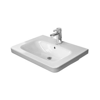 """Duravit 2320650000 DuraStyle 25-5/8"""" Ceramic Bathroom Sink for Vanity, Wall Mounted or Pedestal Installations with Single Faucet"""