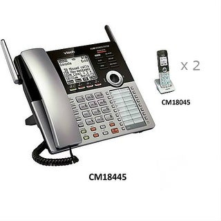 VTech CM18446 Corded 4-Line Small Business Phone w/ Two CM18045 Extra Handsets