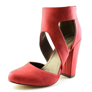 Michael Antonio Jeneil Open Toe Synthetic Platform Heel