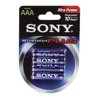 Sony Alkaline Stamina Plus Aaa 4 Batteries Per Pack(Am4B4D)