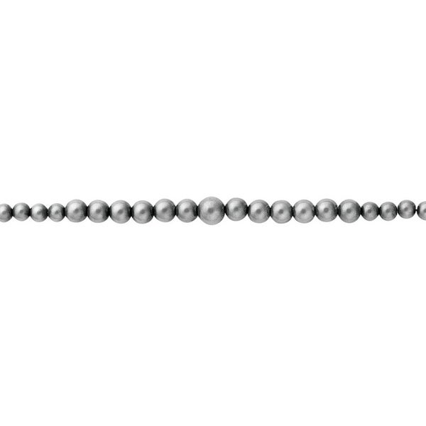 "Vogt Western Womens Necklace Graduated Beaded Chain 16"" Silver 016-073"