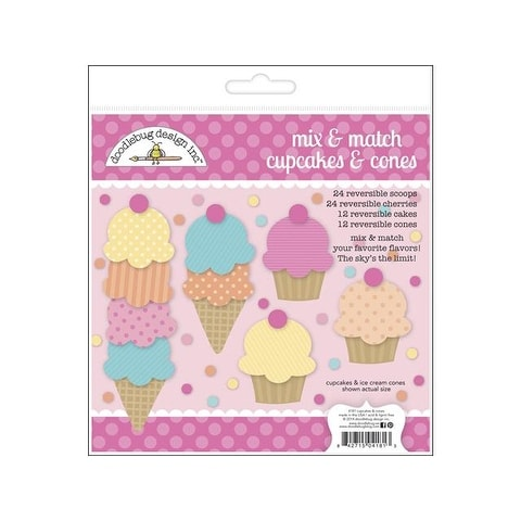 Doodlebug Sugar Shoppe Craft Kit Cupcake & Cones