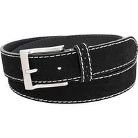 Florsheim Men's Suede Belt Black Suede Leather