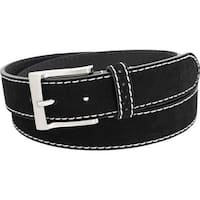 Florsheim Men's Suede Belt Black Suede Leather