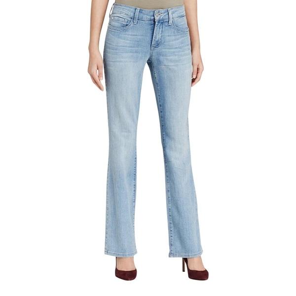 NYDJ Womens Boot Cut Jeans Denim Solid