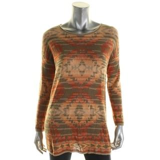 Denim & Supply Ralph Lauren Womens Pullover Top Open Stitch Boatneck - s