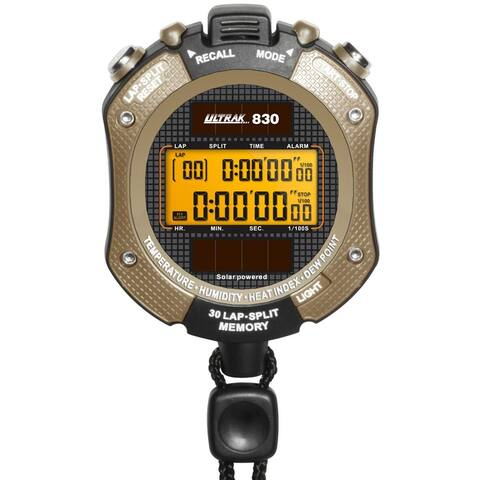 Ultrak 830 Solar Powered Heat Index Stopwatch