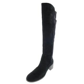 Vince Camuto Womens Frances Suede Neoprene Back Knee-High Boots - 6.5 medium (b,m)