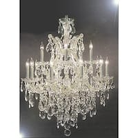 Maria Theresa Silver Swarovski elements Crystal-trimmed Chandelier