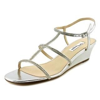 Nina Floria Women Open Toe Synthetic Wedge Sandal