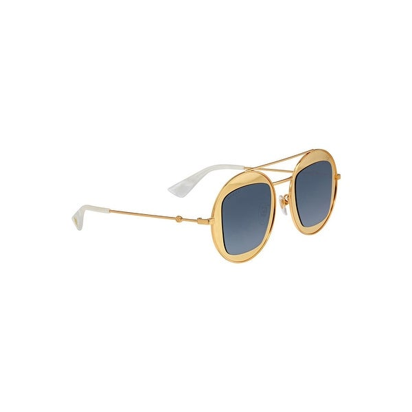 700b31d21d9 Shop Gucci Sunglasses Gg 0105 S- 003 Gold Silver - GOLD-GOLD-SILVER - One  Size - Free Shipping Today - Overstock - 24266463