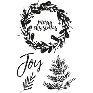 """Peace & Joy Clear Stamps 6""""X4"""""""