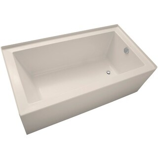 "Mirabelle MIRSKS6032R Sitka 60"" X 32"" Acrylic Soaking Bathtub for Three Wall Alcove Installations with Right Drain (2 options available)"