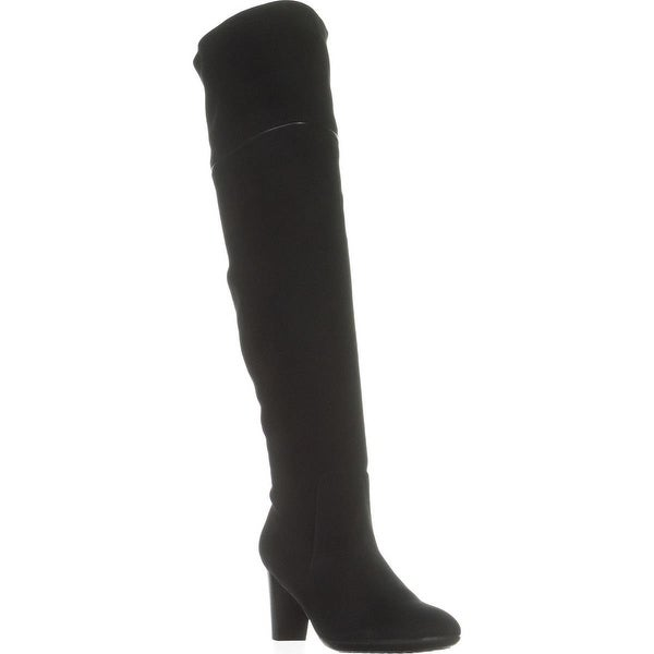 Aerosoles Lavender Over-The-Knee Boots, Black Suede - 6.5 us