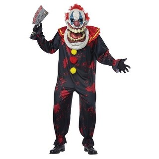 Adult Die Laughing Clown Big Mouth Halloween Costume - standard - one size