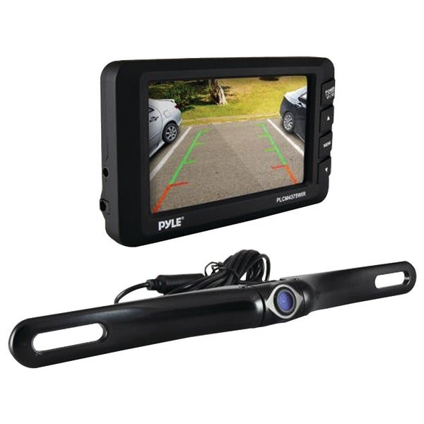 "PYLE PRO PLCM4375WIR 4.3"" LCD Monitor & Wireless Backup Camera with Parking/Reverse Assist System"