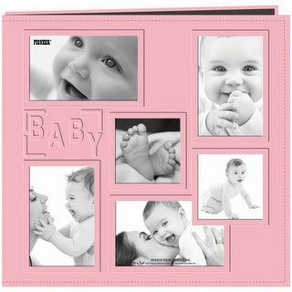 "Pioneer Embossed Collage Frame Post Bound Album 12""X12""-Baby - Pink"