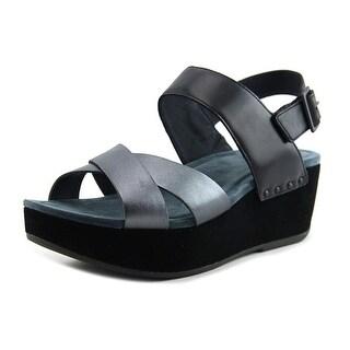 Dansko STASIA BURNISHED Open Toe Leather Wedge Sandal