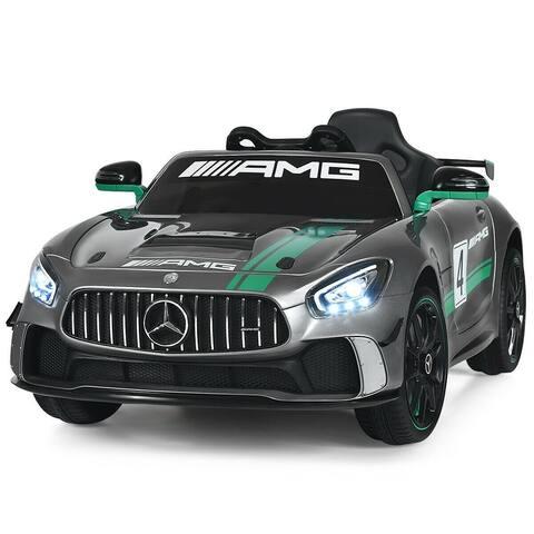 12V Mercedes Benz AMG Licensed Kids Ride On Car-Light Gray