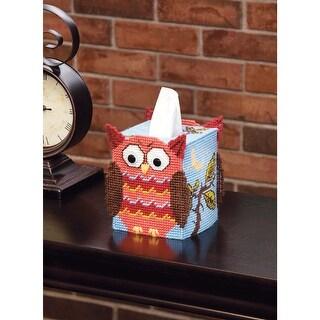 "Owl Tissue Box Plastic Canvas Kit-5"" 7 Count"
