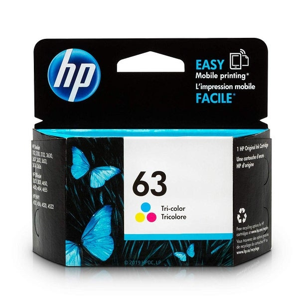 HP 63 Tri-Color Ink Cartridge, F6U61AN - color. Opens flyout.