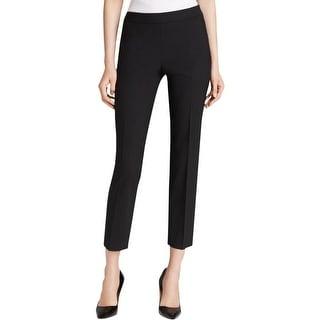 BOSS Hugo Boss Womens Straight Leg Pants Wool Blend Stretch