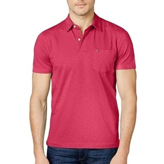 Tommy Hilfiger NEW Pink Mens Size XL Custom Fit Polo Rugby Shirt
