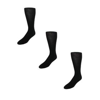 Garment Group Men's Merino Wool Mid Calf Dress Socks (Pack of 3) - One size