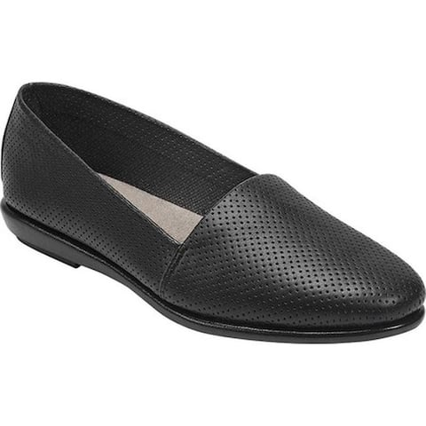 Aerosoles Women's Ms Softee Loafer Black Faux Leather