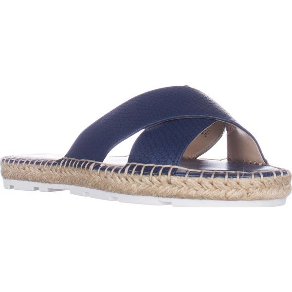 Nine West Demetria Flat Slide Sandals, Navy - 8.5 us