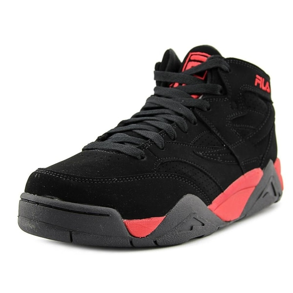 Fila M Squad Men  Round Toe Leather Black Sneakers