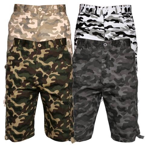 Men's Cargo Camo Shorts Color Cotton Pocket Relaxed Fit Original Deluxe